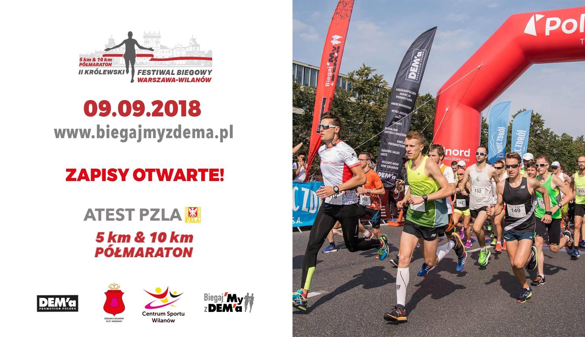 II Królewski Półmaraton Warszawa Wilanów